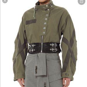 SALE.Alexander Wang Leather Waist Military Jacket